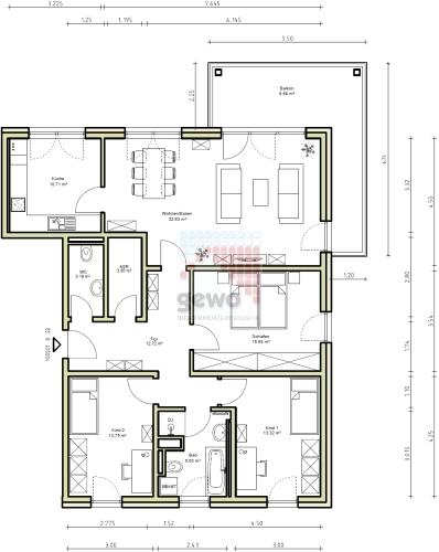 4 Zimmer Wohnung Ulmenweg 6 01728 Bannewitz Freitaler